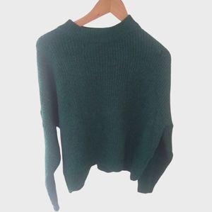 New Topshop Crop Mock Neck Sweater Medium 8-10